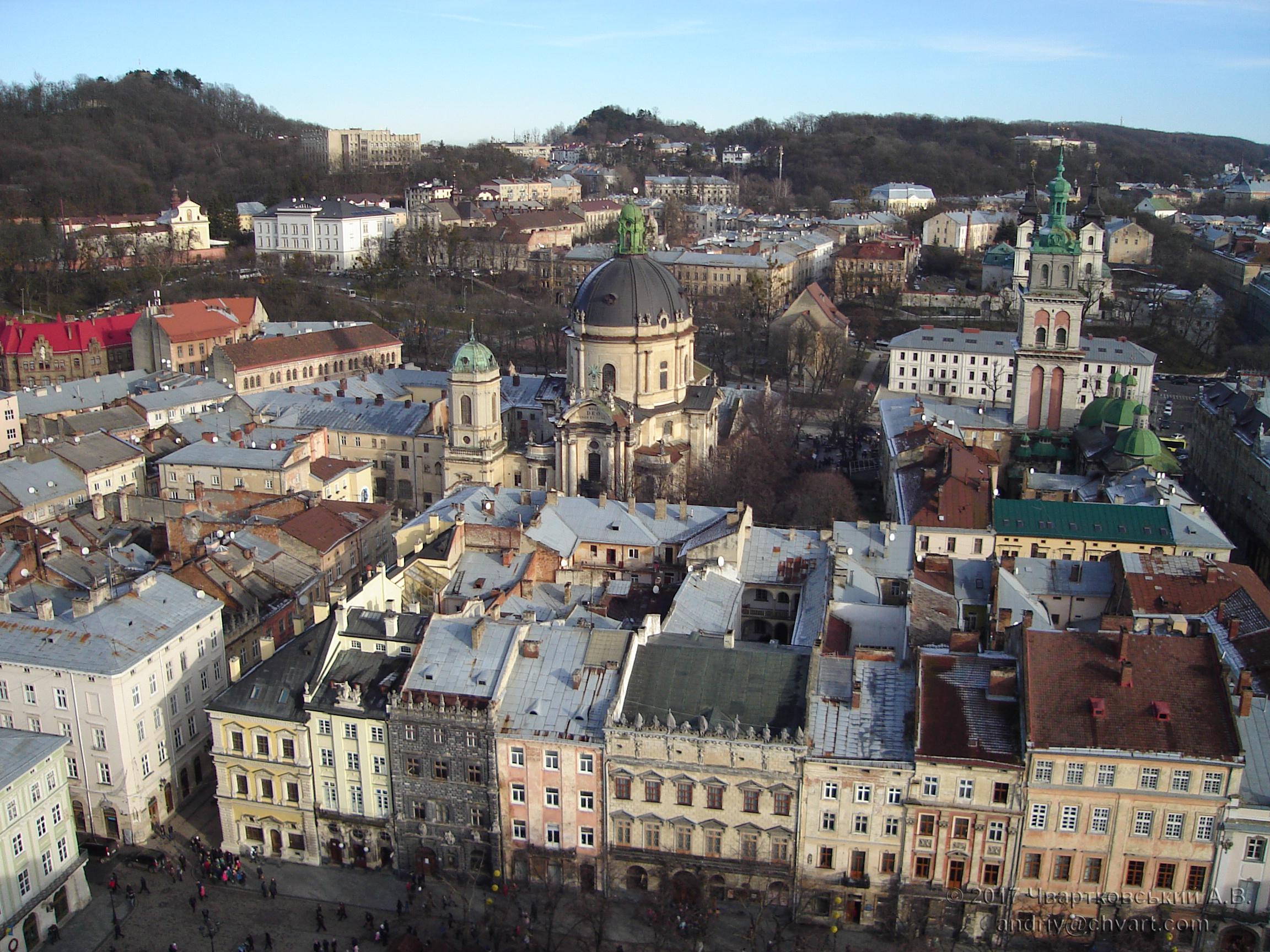 Львів з висоти Ратуші